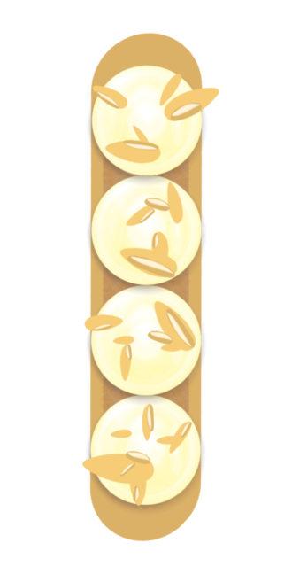 Eclair Frangipane Crème Amande
